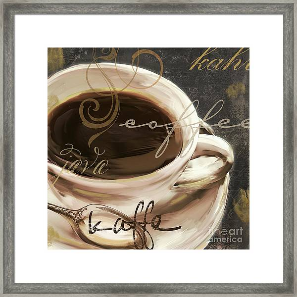 Le Cafe Dark Framed Print