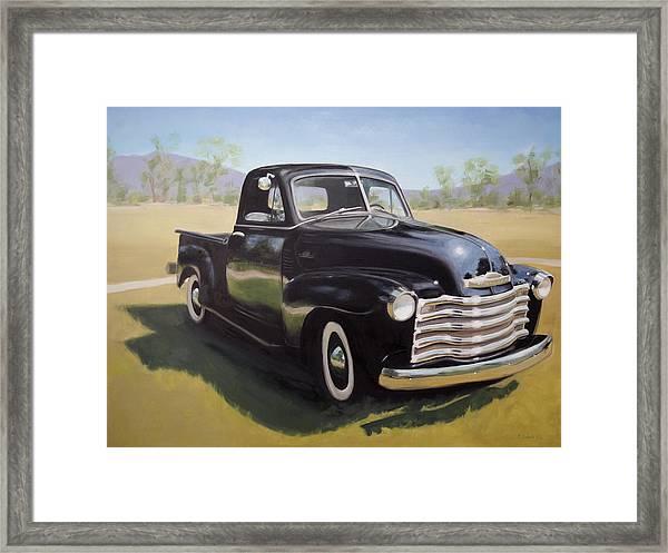 Le Camion Noir Framed Print