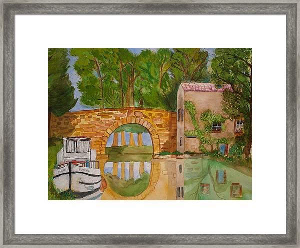 Le Canal Du Midi Framed Print by Aline Kala