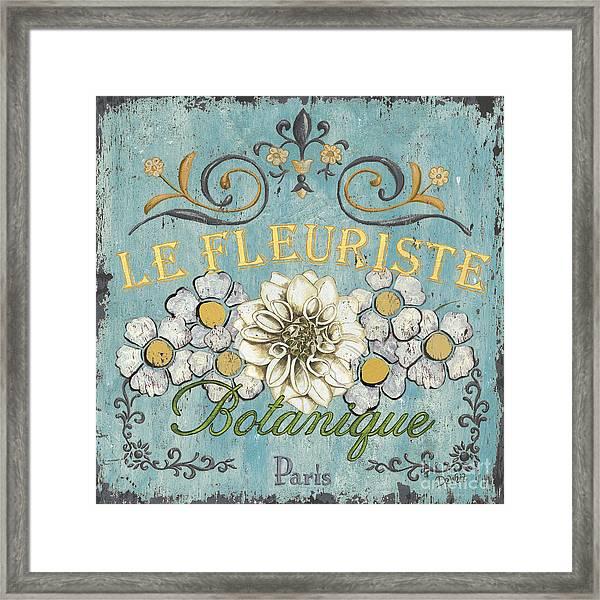 Le Fleuriste De Botanique Framed Print