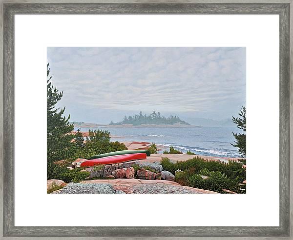 Le Hayes Island Framed Print