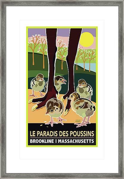 Le Paradis Des Poussins Framed Print