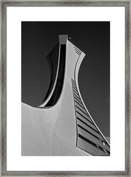 Le Stade Olympique De Montreal Framed Print