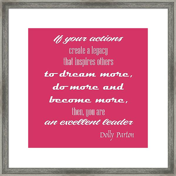 Leadership Quote Framed Print