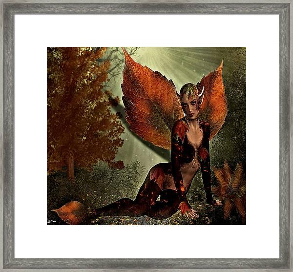Leaf Elf Framed Print