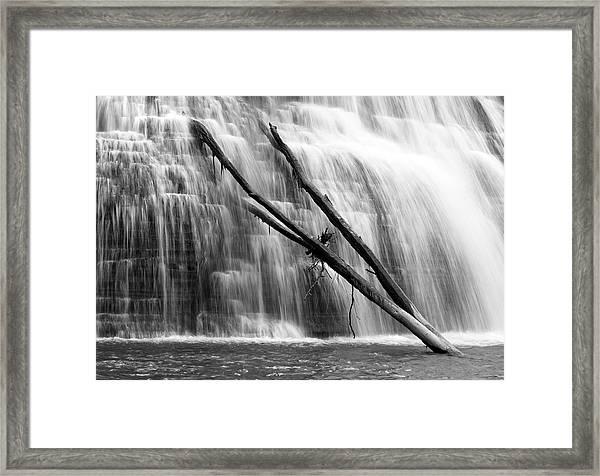 Leaning Falls Framed Print
