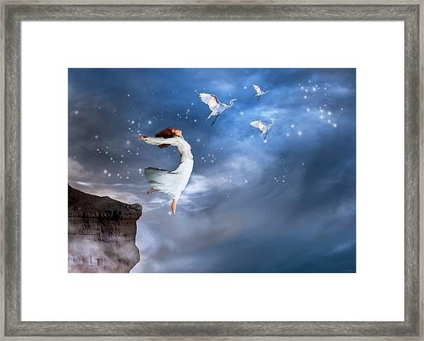 Leap Of Faith Framed Print