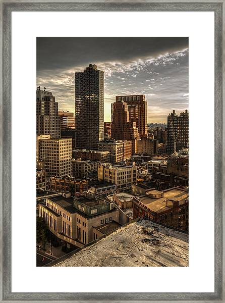 Framed Print featuring the photograph Leap Of Faith by Break The Silhouette