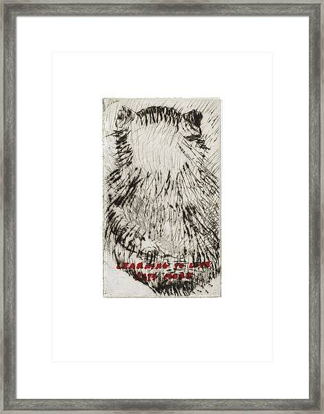 Learning To Love Rats More #3 Framed Print