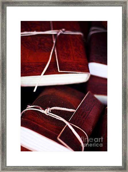 Leather Bound Books Framed Print