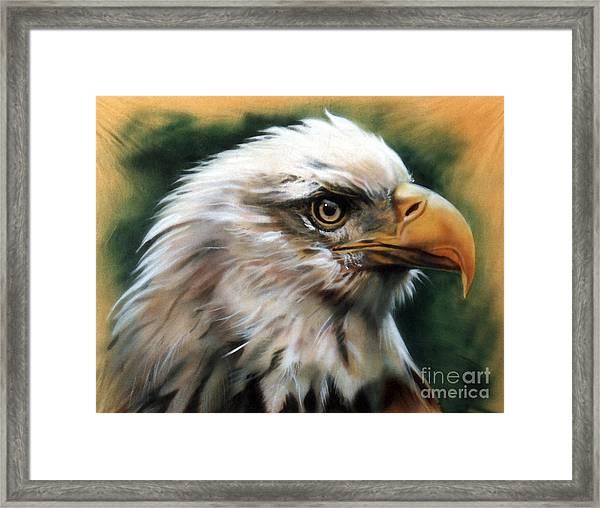 Leather Eagle Framed Print