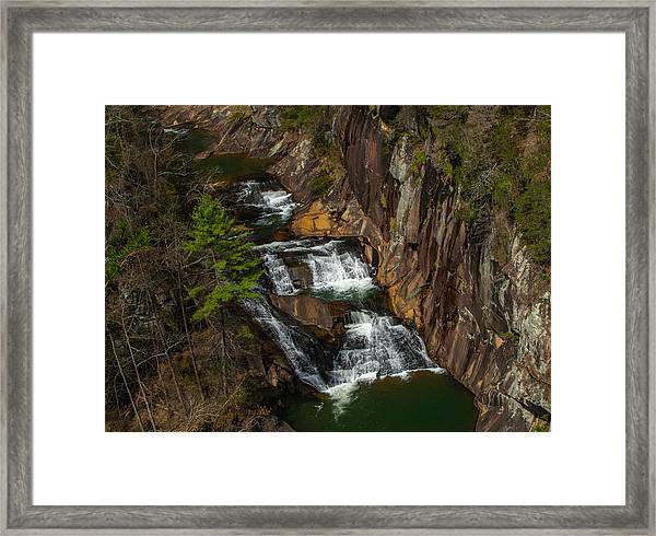 L'eau D'or Falls Framed Print