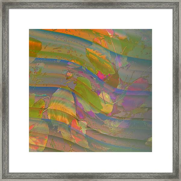 Framed Print featuring the digital art Leave Print by Visual Artist Frank Bonilla