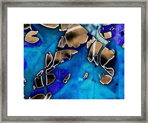 Leaves Abstracted Framed Print