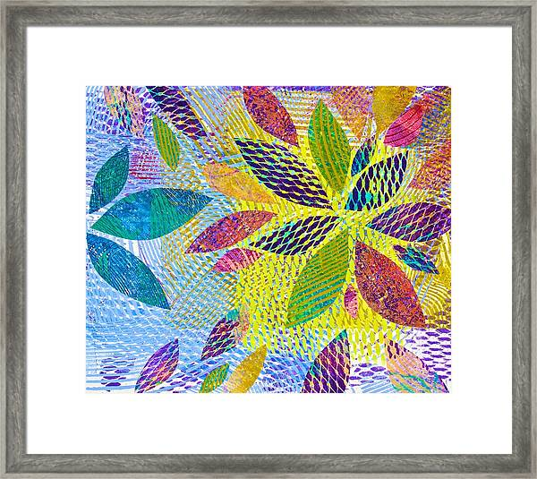 Leaves In Dappled Light Framed Print
