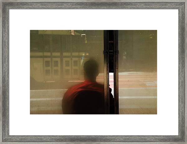 Leaving On A Train Framed Print