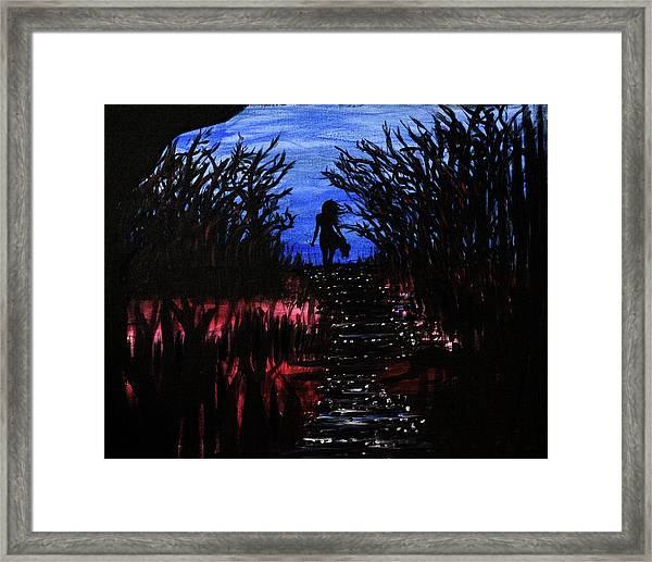 Leaving The Wilds Framed Print