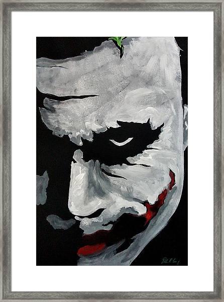 Ledger's Joker Framed Print