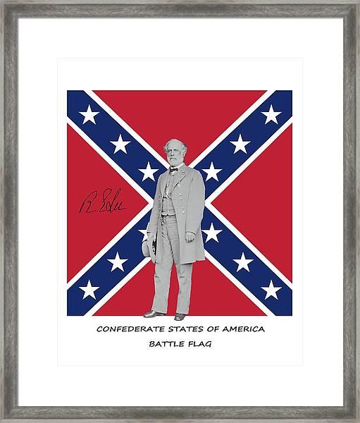 Lee Battleflag Framed Print