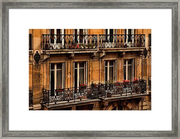Left Bank Balconies Framed Print