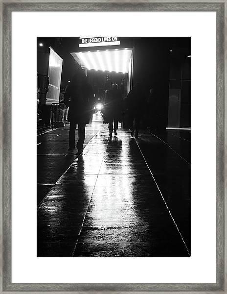 Legend Lives On Framed Print