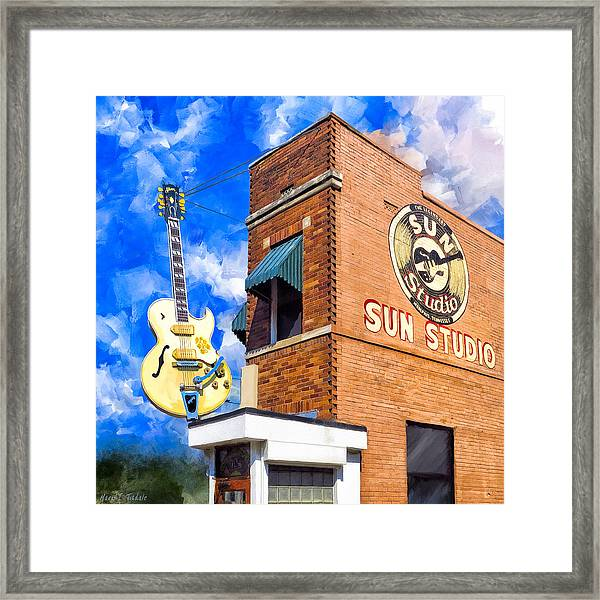 Legendary Home Of Rock N Roll Framed Print