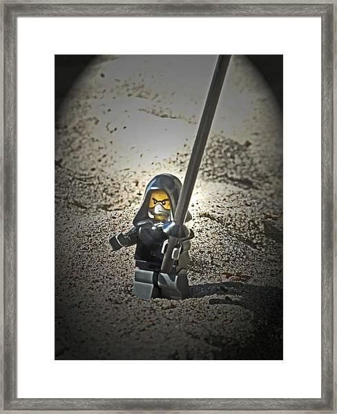 Lego Ninja Framed Print