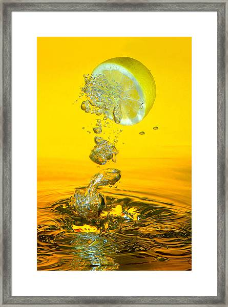 Lemon And Bubbles Framed Print by Travel Images Worldwide