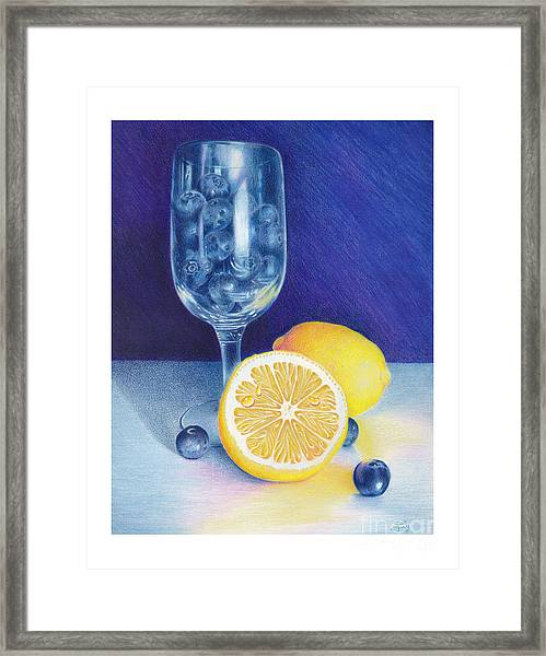 Lemon Blueberry Muffins Framed Print