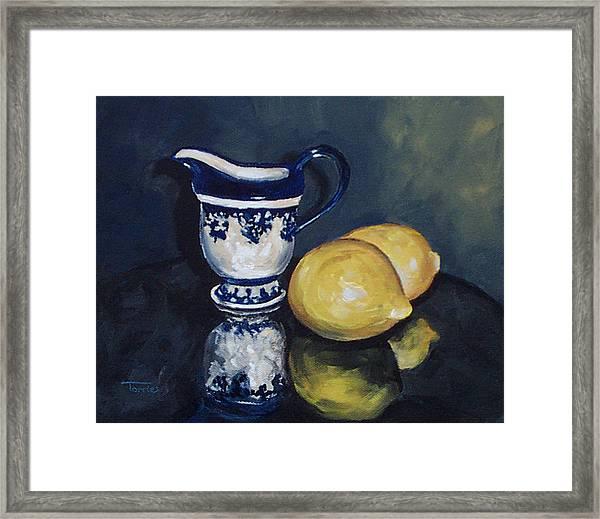 Lemons And Cream  Framed Print