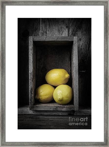 Lemons Still Life Framed Print
