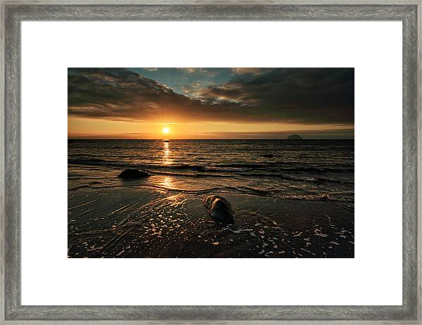 Lendalfoot Sunset Framed Print