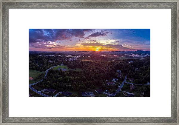 Lenoir North Carolina  Sunset Framed Print
