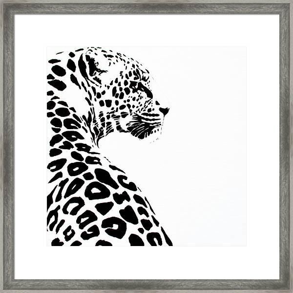 Leo-pard Framed Print