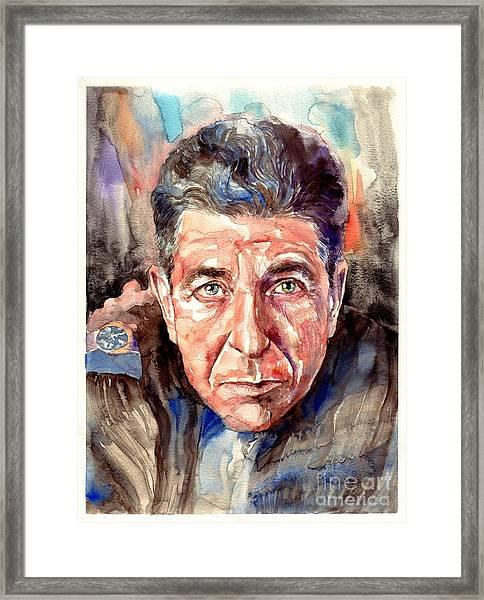Leonard Cohen Painting Framed Print