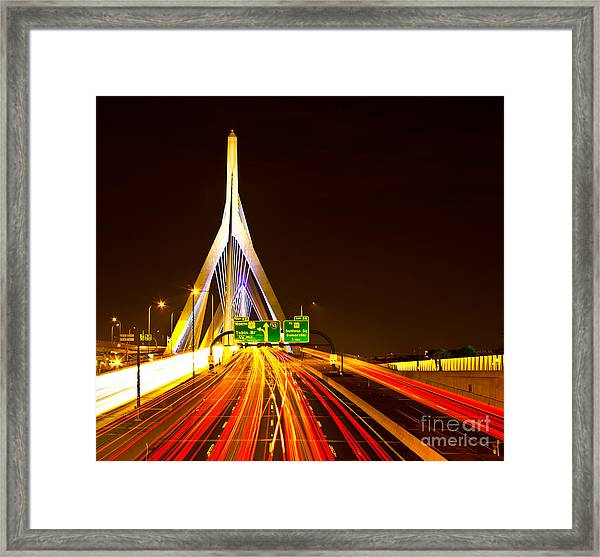 Leonard P. Zakim Bunker Hill Bridge  Framed Print