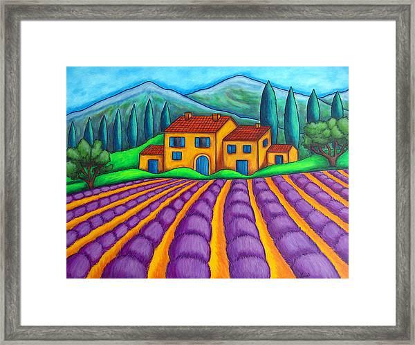 Les Couleurs De Provence Framed Print