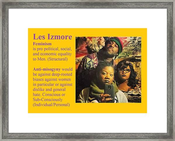 Les Izmore Feminism Framed Print