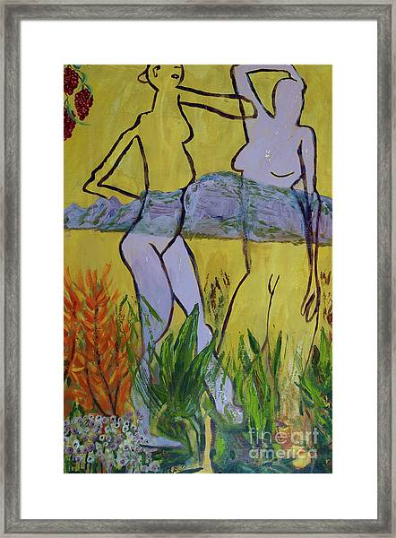 Les Nymphs D'aureille Framed Print