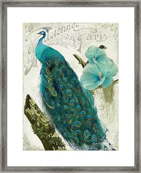 Les Paons Framed Print