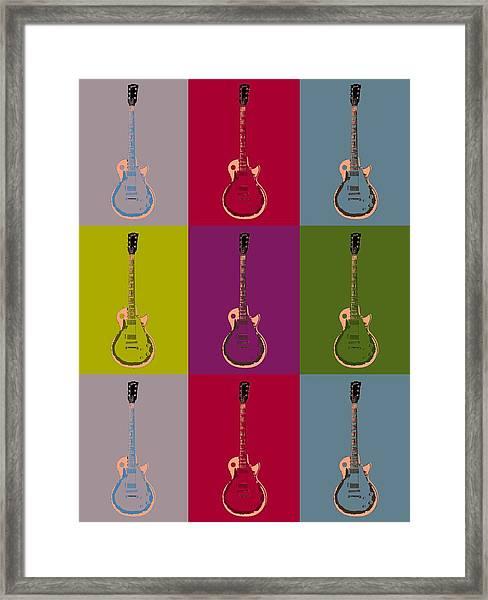 Les Paul Colorful Poster Framed Print