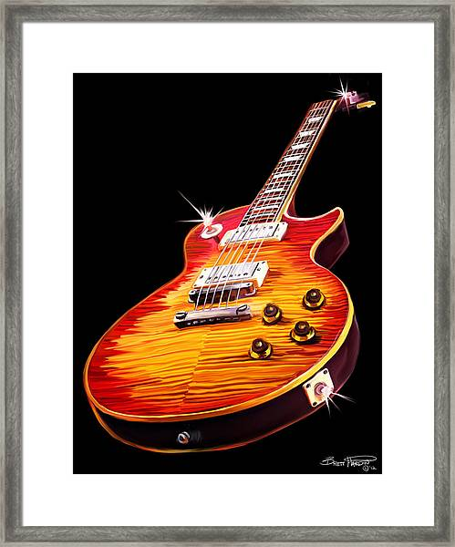 Les Paul Guitar Framed Print