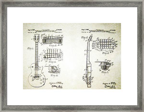Les Paul Guitar Patent 1955 Framed Print