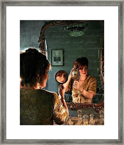 Les Reflexions De Femme Framed Print