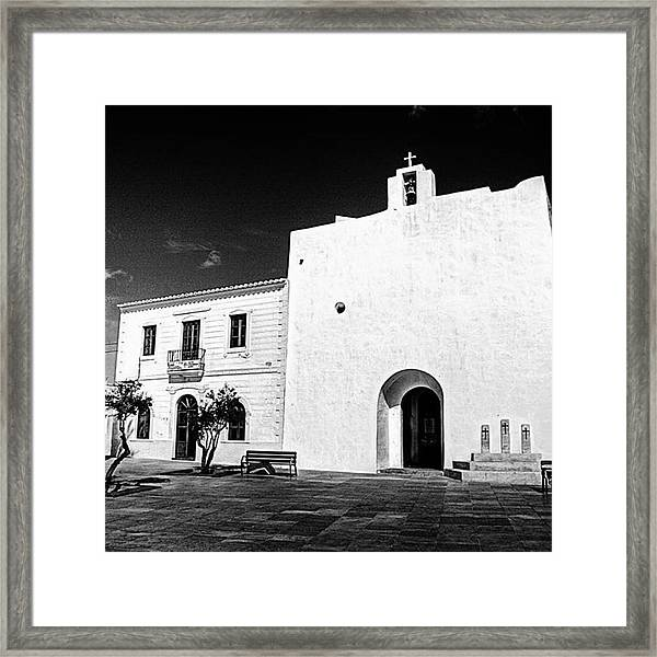 Fortified Church, Formentera Framed Print