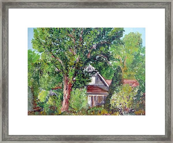 Lesher Homestead Boulder Co Framed Print