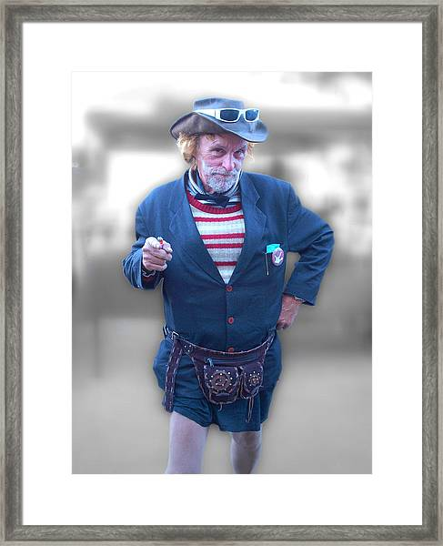 Leslie Cochran Framed Print