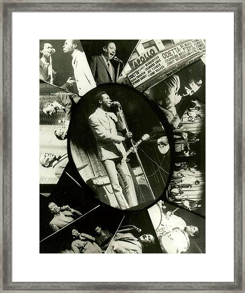 Lester Chambers Of The Chambers Brothers At The Apollo Framed Print