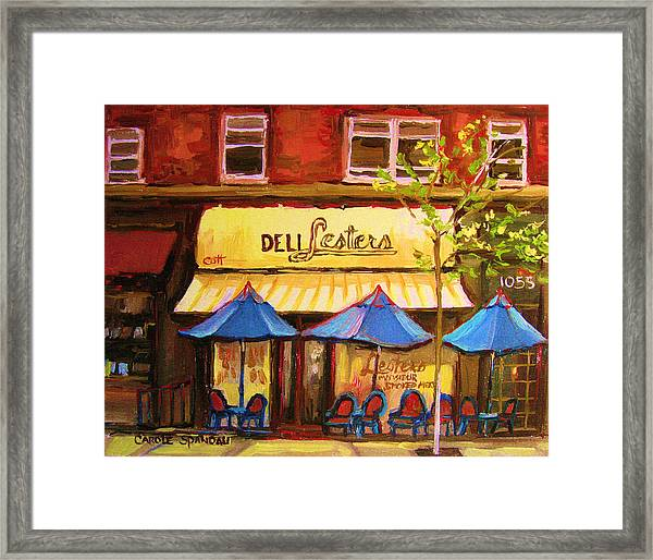 Lesters Cafe Framed Print