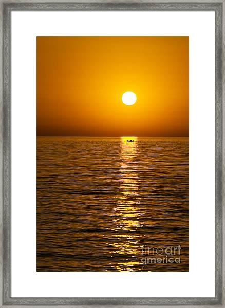 Lesvos Sunset Framed Print